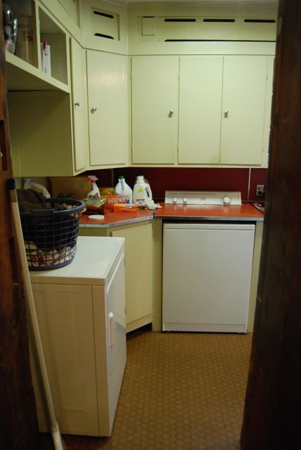 my laundry room - in my KITCHEN!