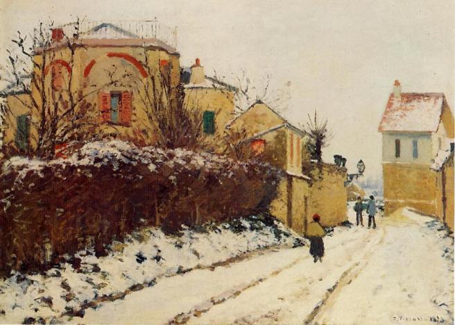 Rue de la Citadelle, Pontoise by Camille Pissarro (1873)